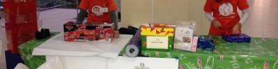 Arcobaleno volontari confezionamento pacchetti